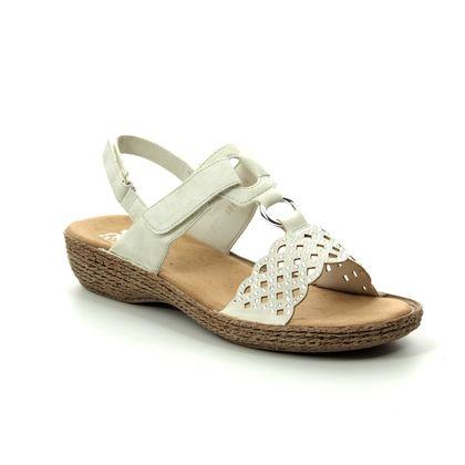 Rieker Comfortable Sandals - Off White - 658B1-80 REGINASTRA