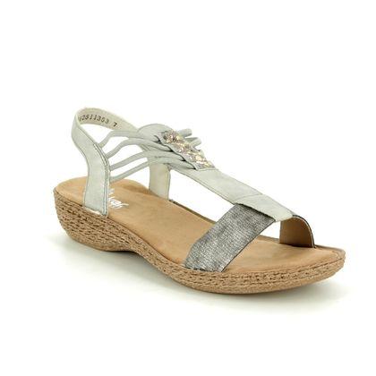 Rieker Comfortable Sandals - Metallic  - 658Y3-90 REGILOLA