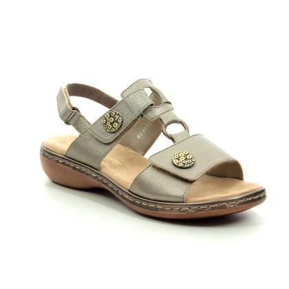 Rieker Comfortable Sandals - Pewter - 65974-90 TITAN