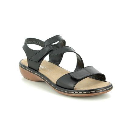 Rieker Comfortable Sandals - Black - 659C7-00 TITILATER