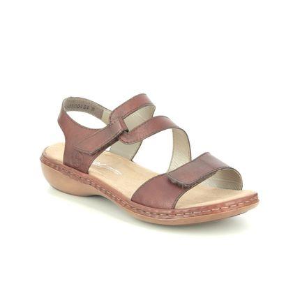 Rieker Comfortable Sandals - Tan - 659C7-24 TITILATER