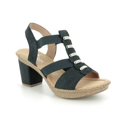 Rieker Heeled Sandals - Navy - 66545-14 ROBSVILLE