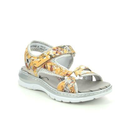 Rieker Walking Sandals - Yellow - 66979-91 BARRELO