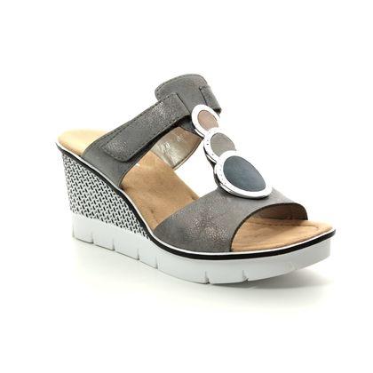 Rieker Wedge Sandals - Metallic - 68563-40 ALTIMY