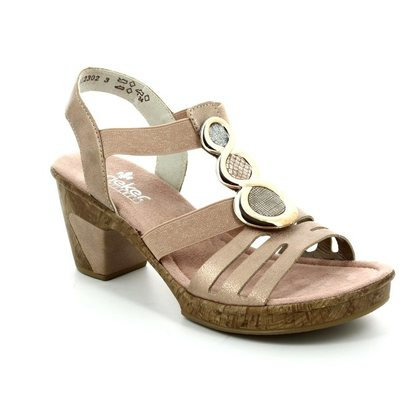 Rieker Heeled Sandals - Rose pink - 69752-31 ROBSWIRL