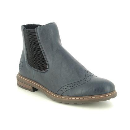Rieker Chelsea Boots - Navy - 71072-14 BRAUN