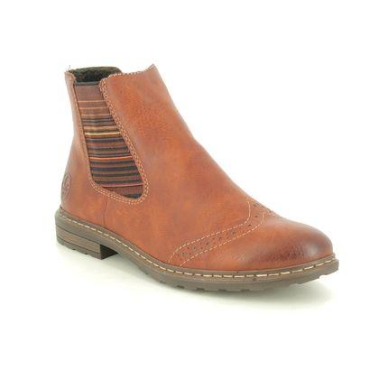 Rieker Chelsea Boots - Brown - 71072-24 BRAUN