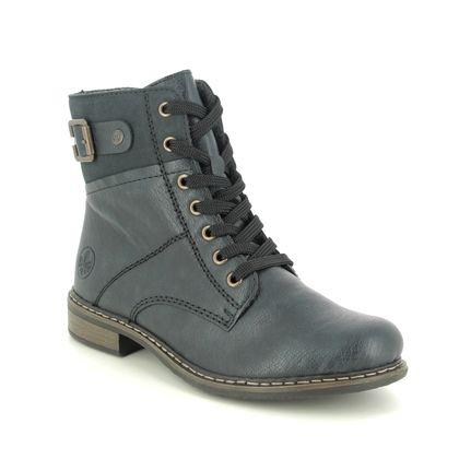 Rieker Lace Up Boots - Navy - 71242-15 PEERBUCK