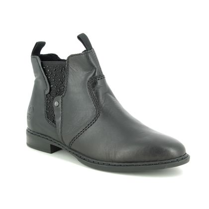 Rieker Chelsea Boots - Black leather - 72460-00 RAPASTO