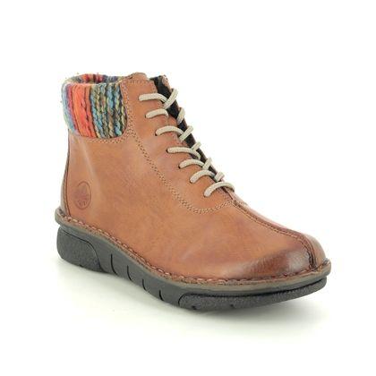 Rieker Lace Up Boots - Tan - 73341-24 JOLLYCUF