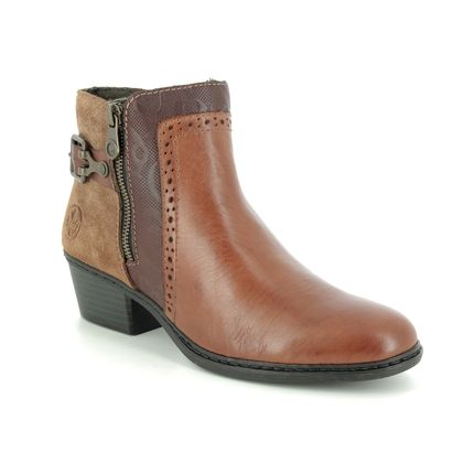 Rieker Boots - Ankle - Tan Leather  - 75585-24 BADOZI