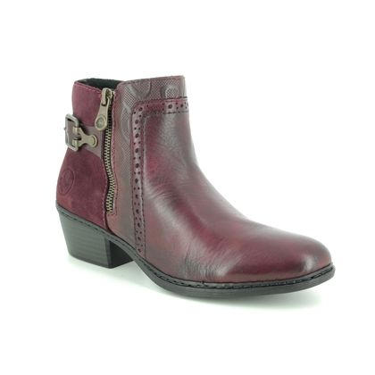 Rieker Boots - Ankle - Wine leather - 75585-30 BADOZI