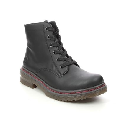 Rieker Lace Up Boots - Black - 76240-00 DOCSY 05