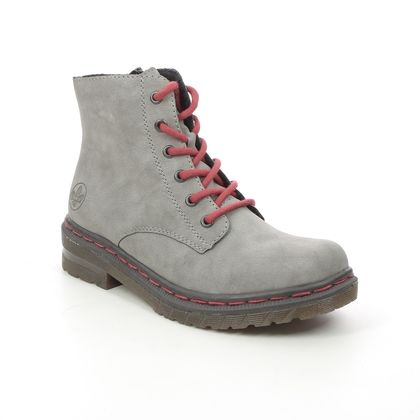 Rieker Lace Up Boots - Grey - 76240-40 DOCSY 05