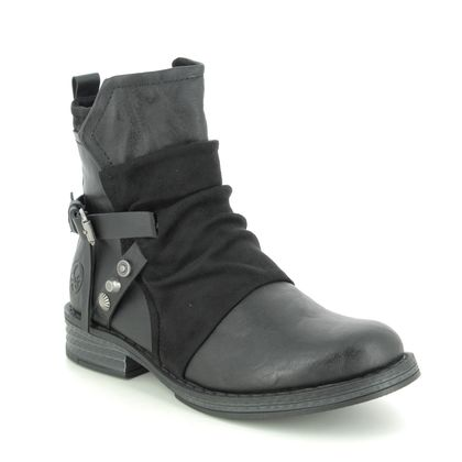 Rieker Fashion Ankle Boots - Black - 92264-00 PEEKATA
