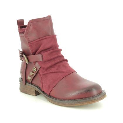 Rieker Fashion Ankle Boots - Wine - 92264-35 PEEKATA