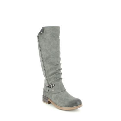Rieker Knee High Boots - Grey - 94652-45 MORELIA TEX