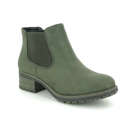 Rieker Chelsea Boots - Olive Green - 96884-54 NEWT