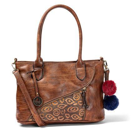 Rieker Handbags - Tan - H1318-22 TOTE ZIP