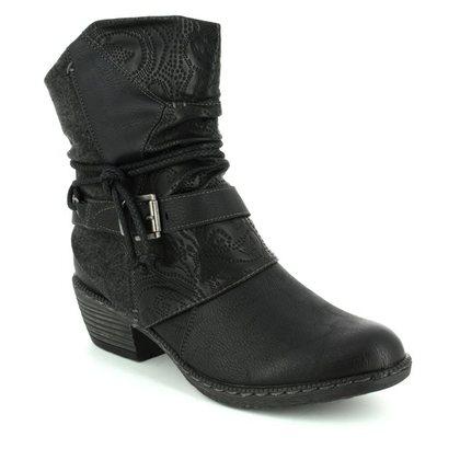 Rieker Girls Boots - Black - K1480-01 BERNASP