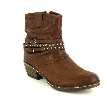 Rieker Girls Boots - Brown multi - K1493-26 BERNASTUD