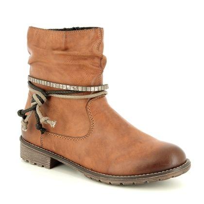 Rieker Ankle Boots - Tan - K3458-24 PEENIKI