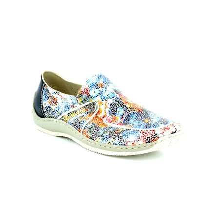 Rieker Comfort Slip On Shoes - Floral print - L1766-90 CELIAPER
