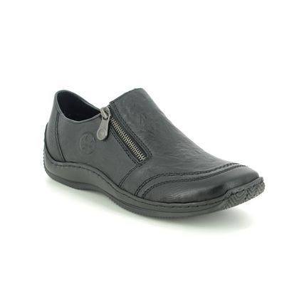 Rieker Comfort Slip On Shoes - Black Leather - L1771-00 CELIAZI