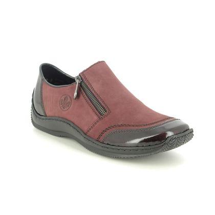 Rieker Comfort Slip On Shoes - Wine patent - L1771-35 CELIAZI