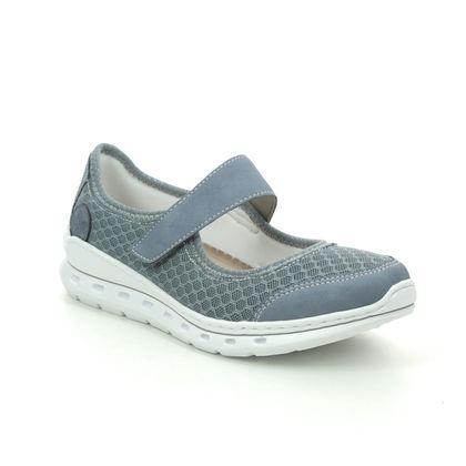 Rieker Mary Jane Shoes - Denim blue - L22B0-14 MALIBAR
