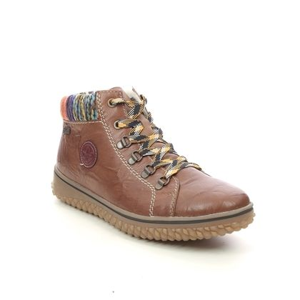 Rieker Ankle Boots - Tan Leather  - L4211-22 GRIPPCUFF TEX