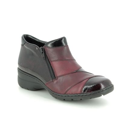 Rieker Boots - Ankle - Wine leather - L4373-35 DARBOT