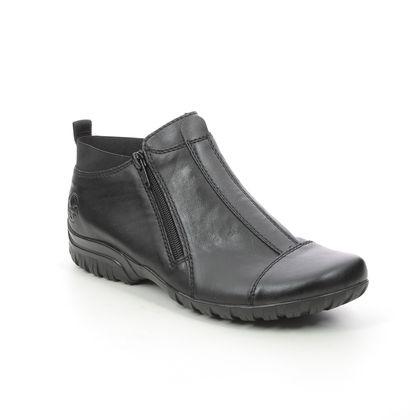 Rieker Ankle Boots - Black leather - L4653-00 BIRBOCAP 15