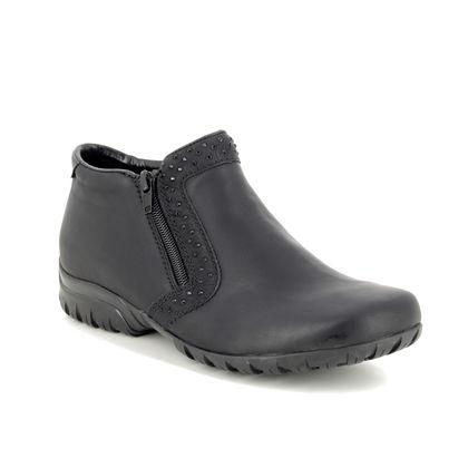 Rieker Comfort Slip On Shoes - Black - L4669-00 BIRBOZIA