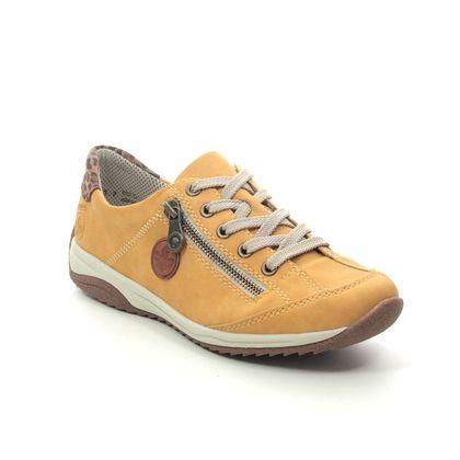 Rieker Trainers - Yellow - L5224-68 MONTELO
