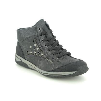 Rieker Lace Up Boots - Grey - L5225-01 MONTEHOLY