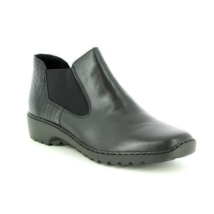 Rieker Fashion Ankle Boots - Black - L6090-02 BORBOCHEL 82