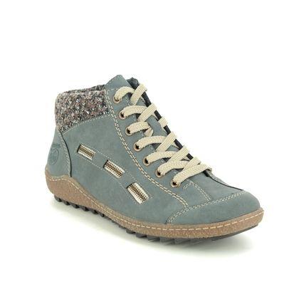 Rieker Lace Up Boots - Denim blue - L7543-14 ZIGSEICUFF