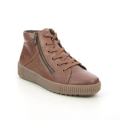 Rieker Lace Up Boots - Brown - M6434-25 DURLOLEP