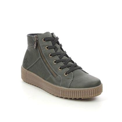 Rieker Lace Up Boots - Green - M6434-54 DURLOLEP