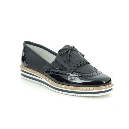 Rieker Loafers and Moccasins - Navy patent - N0273-14 KELFRINGE