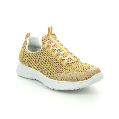 Rieker Trainers - Yellow - N4174-68 TABULOUS
