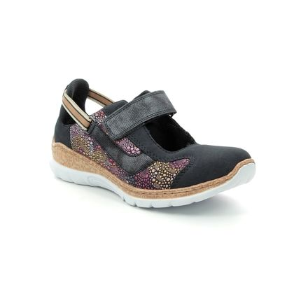 Rieker Mary Jane Shoes - Navy - N42R8-14 EMPIFLOBAR