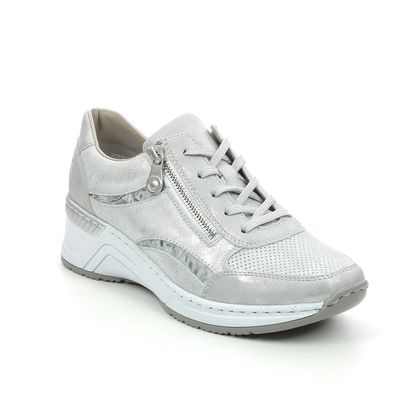 Rieker Trainers - Silver - N4306-40 VICTINOS