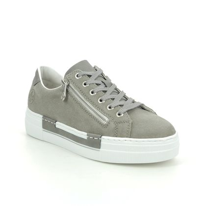 Rieker Trainers - Grey suede - N4921-42 LIMAGE