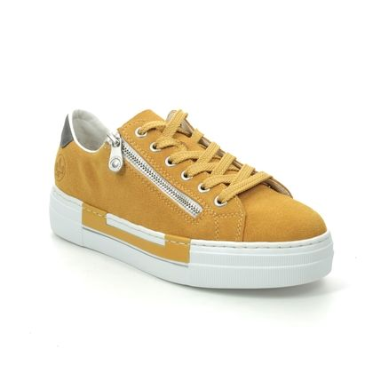 Rieker Trainers - Yellow Suede - N4921-68 LIMAGE