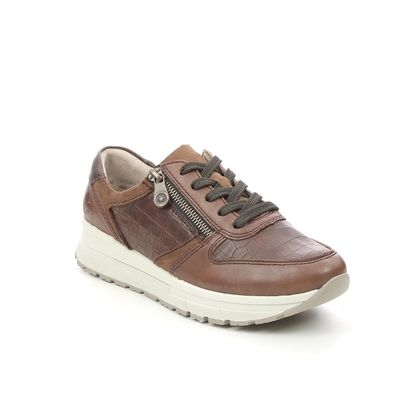 Rieker Trainers - Tan Leather - N7811-25 GALAGANO