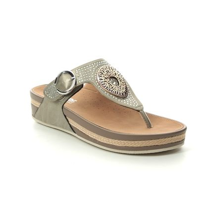 Rieker Toe Post Sandals - Metallic - V1460-62 LULU