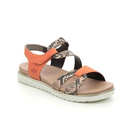 Rieker Flat Sandals - Orange - V5069-24 COLUMBO