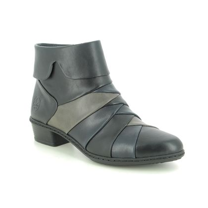 Rieker Ankle Boots - Navy Black - Y0791-01 STEFANY